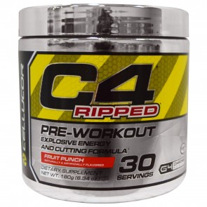 Cellucor C4 Ripped Pre-workout Cutting Formula Fruit Punch 30 Servings 6.34 oz