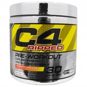 Cellucor C4 Ripped Pre-workout Cutting Formula Cherry Limeade 30 Servings 6.34 oz