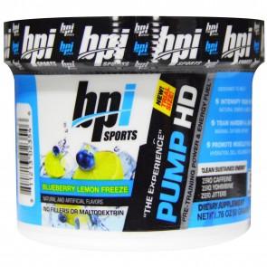 BPI Sports Pump HD Blueberry Lemon Freeze 5 Servings 1.76 oz