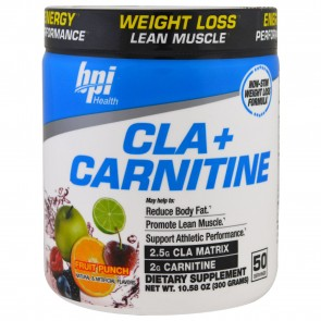 BPI Health CLA + Carnitine Fruit Punch 300 Grams (50 Servings)