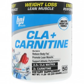 BPI Health CLA + Carnitine Rainbow Ice 300 Grams (50 Servings)