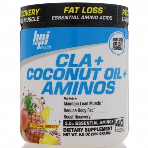 BPI Health CLA + Coconut Oil + Aminos Tropical Breeze 280 Grams (40 Servings)