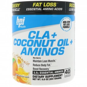 BPI Health CLA + Coconut Oil + Aminos Orange Freeze 280 Grams (40 Servings)