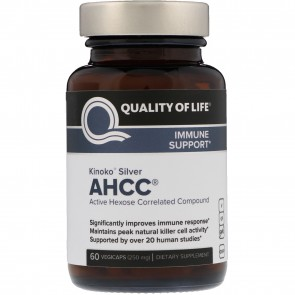 Quality Of Life Kinoko Silver AHCC 250mg 60 Capsules