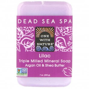 One With Nature-Dead Sea Mineral Soap 7oz Lilac