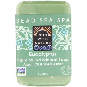 One With Nature-Dead Sea Mineral Soap 7oz Eucalyptus