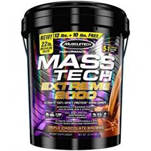 Muscletech Mass Tech Triple Chocolate Brownie  22 lbs