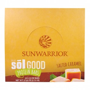 Sunwarrior Sol Good Protein Bars Salted Caramel Box of 12