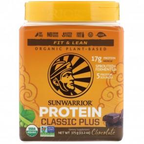 Sunwarrior Classic Plus Organic Plant-Based Protein Chocolate 13.2 oz