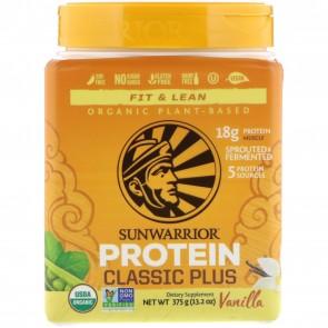 Sunwarrior Classic Plus Organic Plant-Based Protein Vanilla 13.2 oz