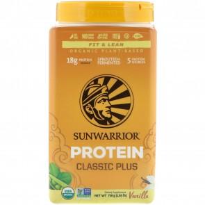 Sunwarrior Classic Plus Organic Plant Based Protein Vanilla 1.65 lbs