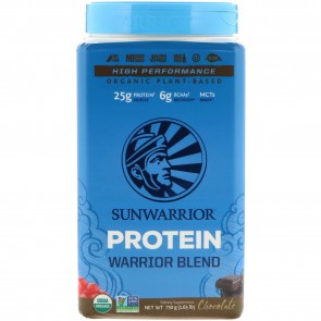 SunWarrior Warrior Blend Plant-Based Organic Protein Chocolate 1.6 lbs