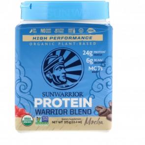 SunWarrior Warrior Blend Plant-Based Organic Protein Mocha 13.2 oz