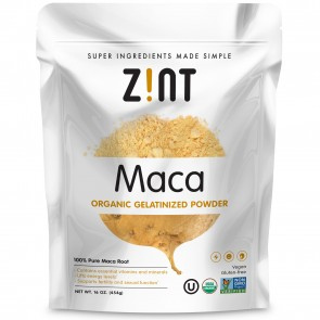 Zint - Organic Maca Powder Gelatinized, Non GMO, Yellow Maca Root - Fertility, Virility, Stamina, Energy Boost Superfood (16 oz)