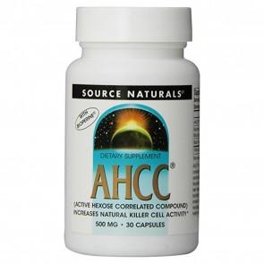 AHCC Source Naturals 500 mg 30 capsules