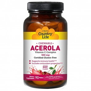 Country Life Chewable Acerola Vitamin C 500mg 90 Wafers