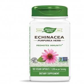 Natures Way Echinacea Purpurea Herb 180 Vegan Capsules