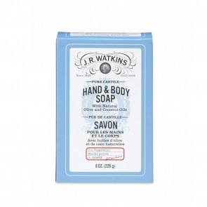 J.R. Watkins Pure Castile Hand & Body Soap Peppermint 8 oz