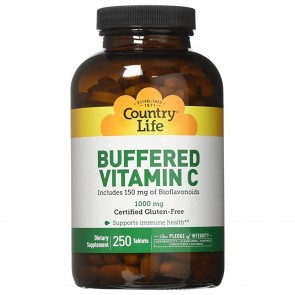 Country Life Buffered Vitamin C 1,000mg 250 Tablets