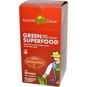 Amazing Grass Green SuperFood Berry 15 Individual Packets
