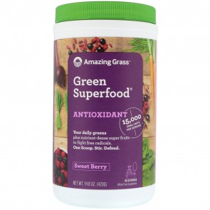 Amazing Grass Green SuperFood Antixodiant Sweet Berry 14.8 oz (420 Grams)
