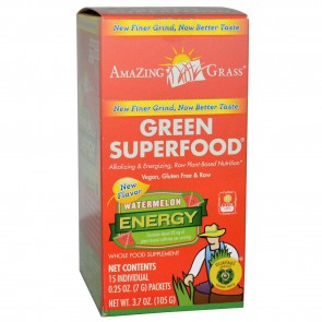 Amazing Grass Green SuperFood Energy Watermelon 15 Individual Packets