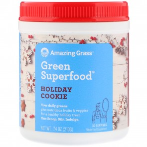 Amazing Grass Green Superfood Holiday Cookie 210 Grams