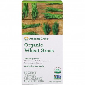 Amazing Grass Organic Wheat Grass 15 Individual Packets