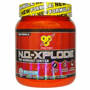 BSN N.O.-Xplode Pre-Workout Igniter, Blue Razz - 1.22 lb tub