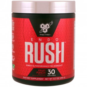 BSN EndoRush Pre-Workout Powder Fruit Punch 30 Servings (390 Grams)