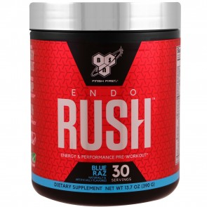 BSN EndoRush Pre-Workout Powder Blue Raz 30 Servings (390 Grams)