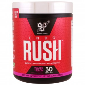 BSN EndoRush Pre-Workout Powder Watermelon 30 Servings (390 Grams)