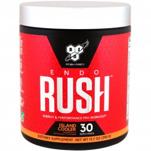 BSN EndoRush Pre-Workout Powder Island Cooler 30 Servings (390 Grams)