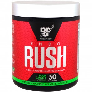 BSN EndoRush Pre-Workout Powder Sour Candy 30 Servings (390 Grams)