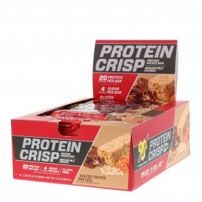 BSN Syntha-6 Protein Crisp Bar Salted Toffee Pretzel 12 Bars