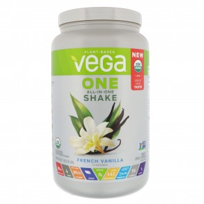 Vega One Plant Based All-In-One Shake French Vanilla 1.8 lbs 18 Servings