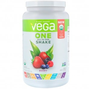 Vega One Plant Based All-In-One Shake Berry 1.8 lbs 18 Servings
