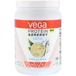 Vega Protein & Energy with 3g MCT Oil  Vanilla Bean, 18 oz  (510 g)