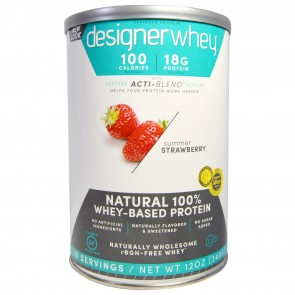 Designer Whey 100% Premium Whey Protein Summer Strawberry 12 oz (360 g)
