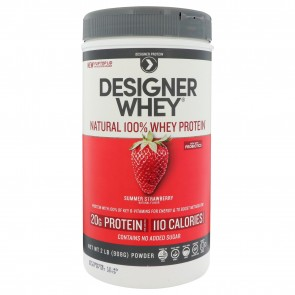 Designer Whey Protein Natural Luscious Strawberry 2 lbs