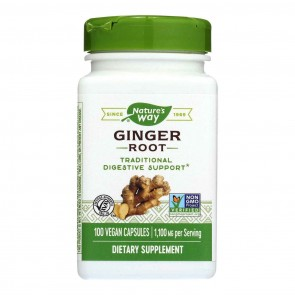 Nature's Way Ginger Root 1,100 mg 100 Capsules