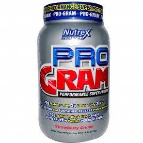 Nutrex Research Labs Pro-Gram Performance Super Protein Strawberry Cream 2.24 lbs