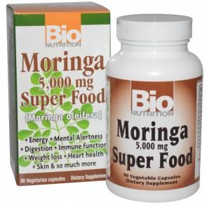 Bio Nutrition Moringa 5000 mg Super Food 90 Veggie Caps