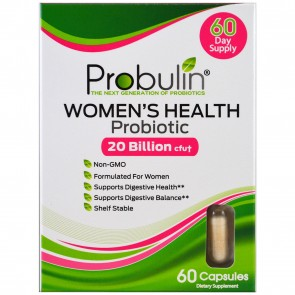 Probulin Women's Health Probiotic 20 Billion CFU 60 Capsules