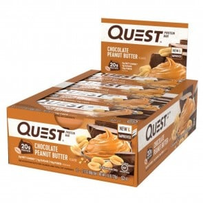 Quest Nutrition Quest Bar Protein Bar Chocolate Peanut Butter (12 Bars)