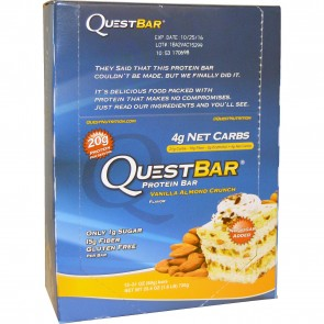 Quest Nutrition Quest Bar Protein Bar Vanilla Almond Crunch (12 Bars)