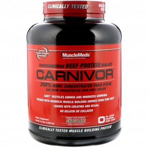 MuscleMeds Carnivor Bioengineered Beef Protein Isolate Chocolate 4.5 lbs (2072 g)