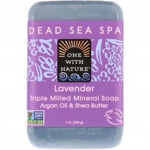 One With Nature-Dead Sea Mineral Soap 7oz Lavender