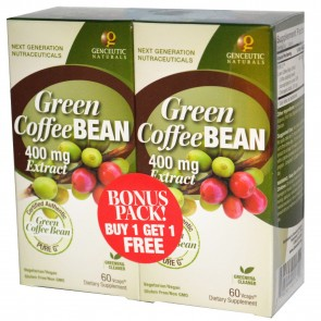 Genceutic Naturals Green Coffee Bean 60 Capsules Bonus Pack