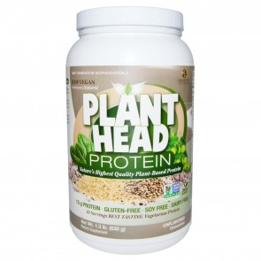 Genceutic Naturals Plant Head Protein Unflavored 1.3 lb (630 g)